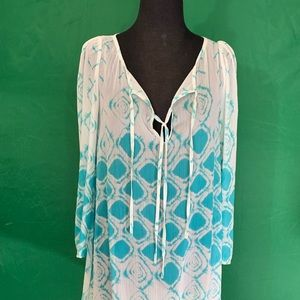 Sheer Beach cover-up, Bohemian style preowned